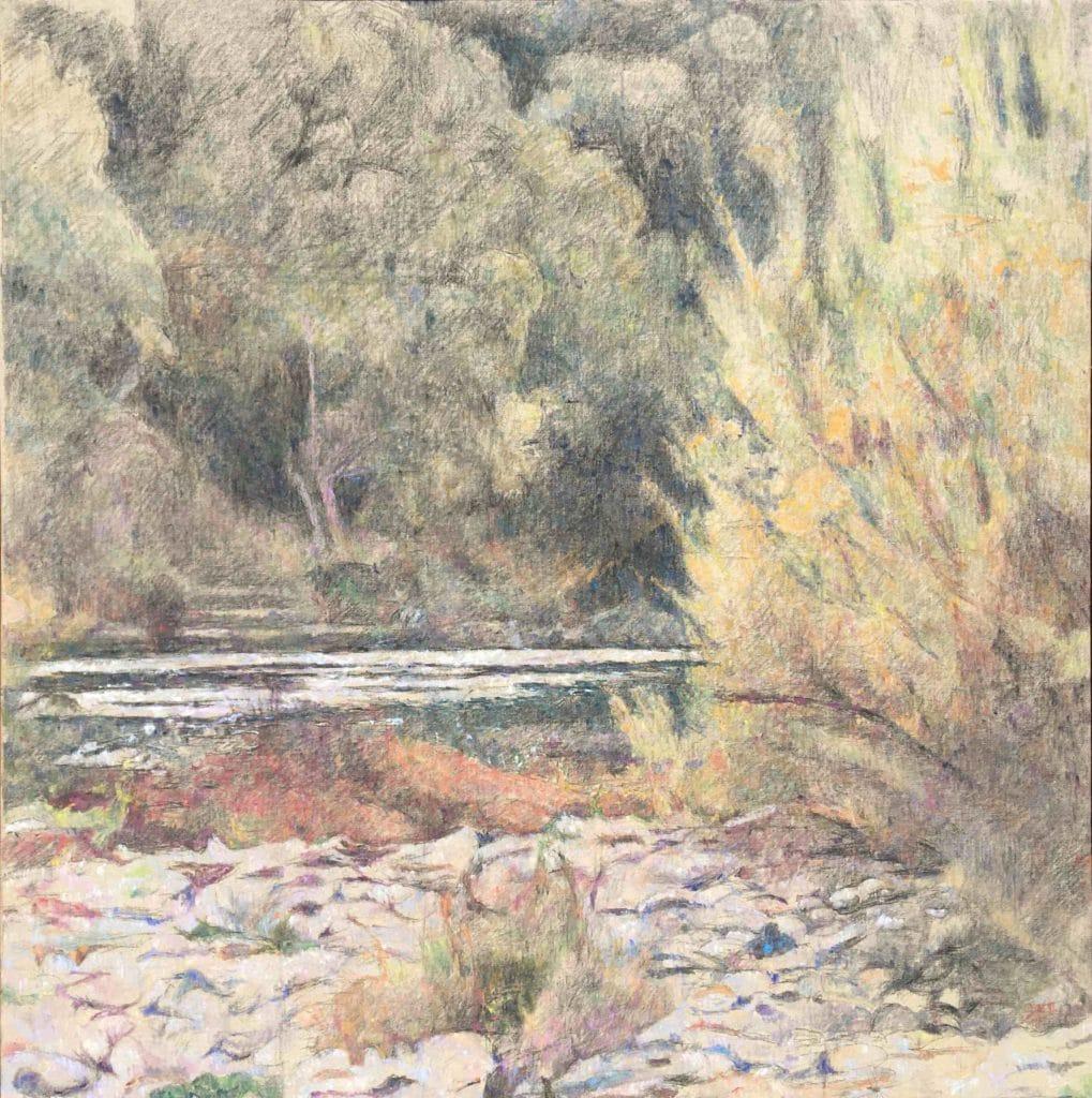 Vodna krajina-1, 2014, 105 x 104 cm, cena: 750€