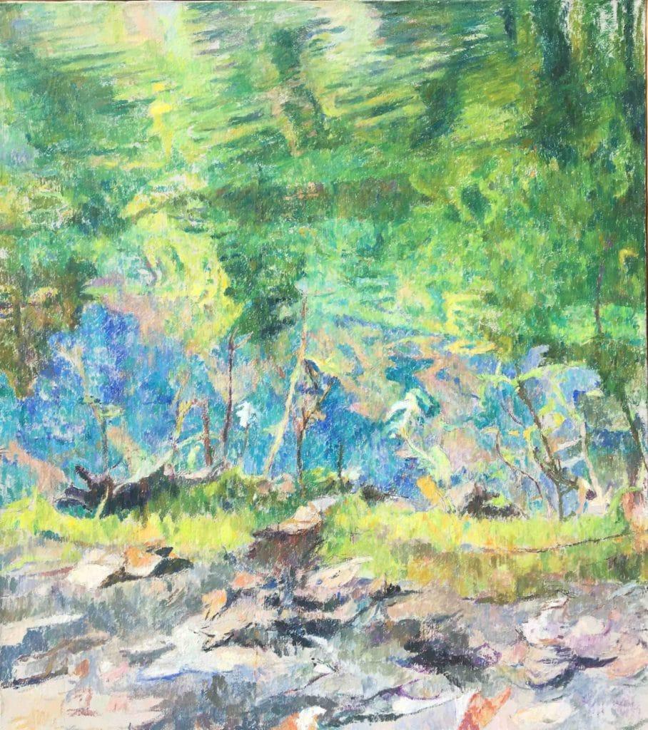 Vodna krajina-10, 2014, 90x 80cm, cena: 500€
