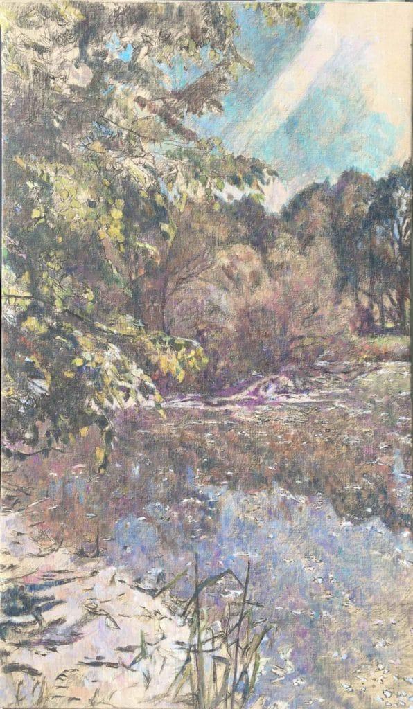 Vodna krajina-2, 2014, 112 x 66 cm, cena: 750€