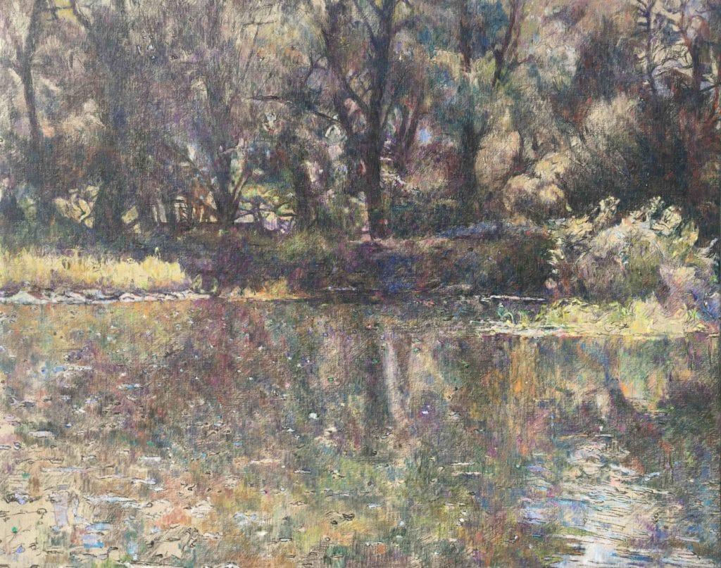 Vodna krajina-3, 2014, 84 x 106 cm, cena: 750€