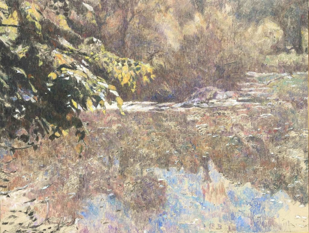 Vodna krajina-5, 2014, 99 x 96cm, cena: 750€