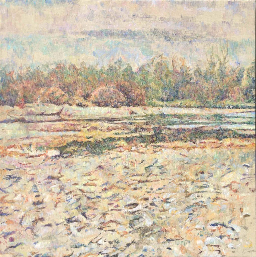 Vodna krajina-9, 2014, 108x 109cm, cena: 750€