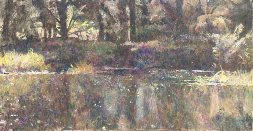 Vodna krajina-4, 2014, 61 x 117 cm, cena: 750€