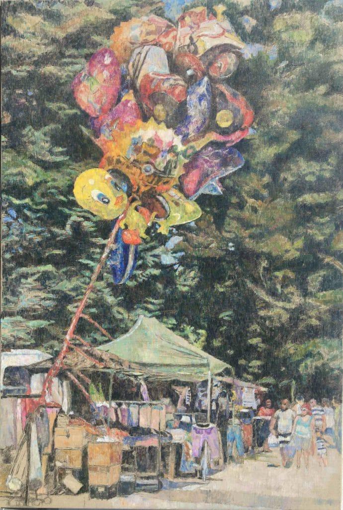 Baloni na kramarskem, 2013, 179 x 113 cm 850€