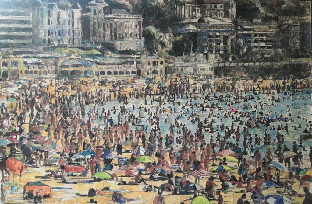 """Plaža"", 110x165cm, 1.400€"