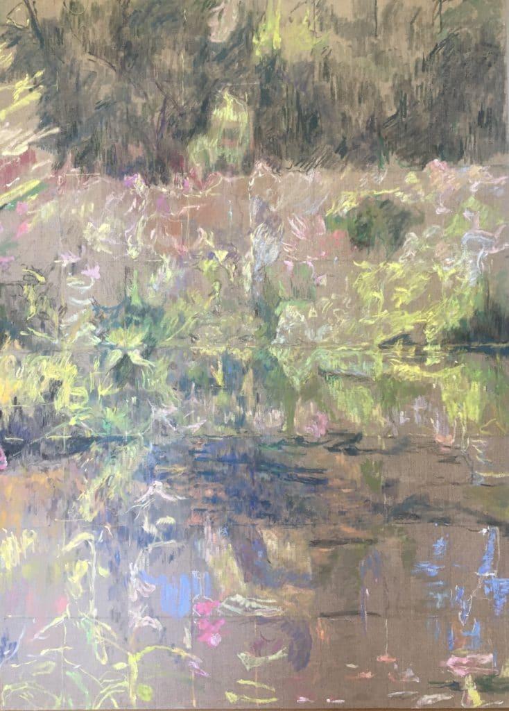 """""""Rečna krajina"""", 110x80 cm, 400€"""